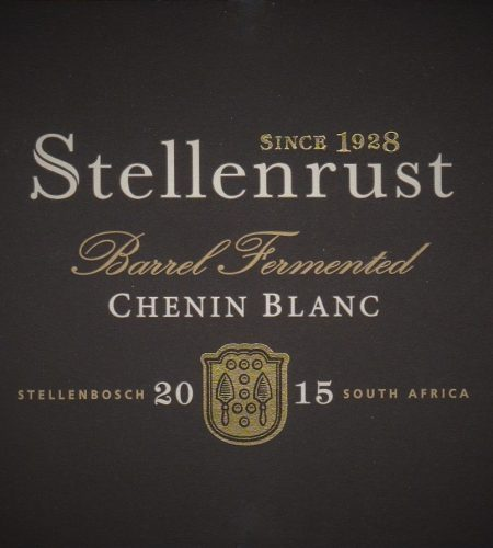 Stellenrust Barrel Fermented Chenin Blanc 2015