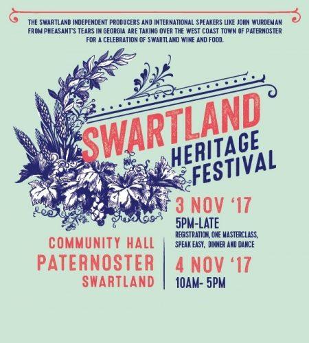 November 3 & 4 : Swartland Heritage Festival, Paternoster